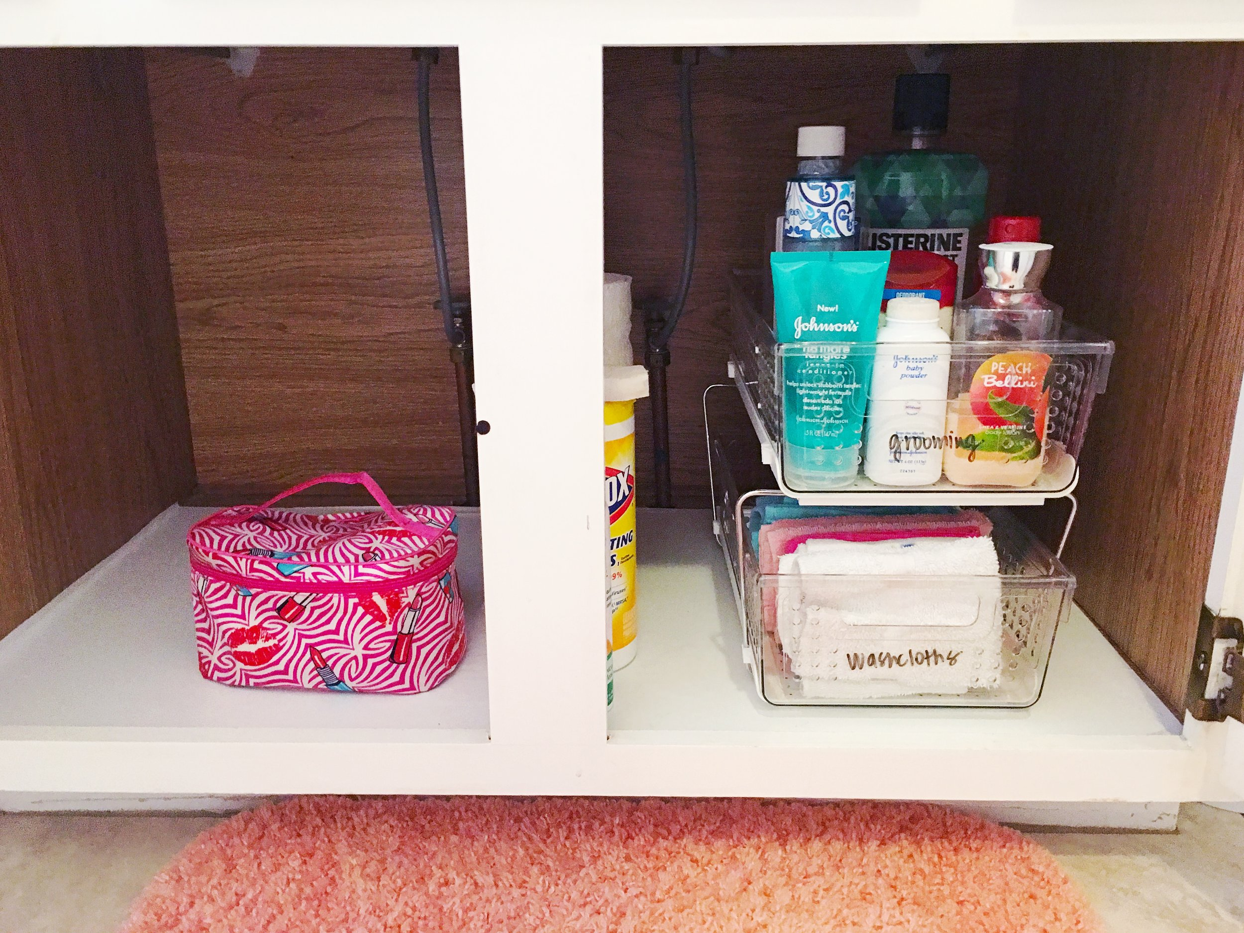 after child's bathroom cabinet