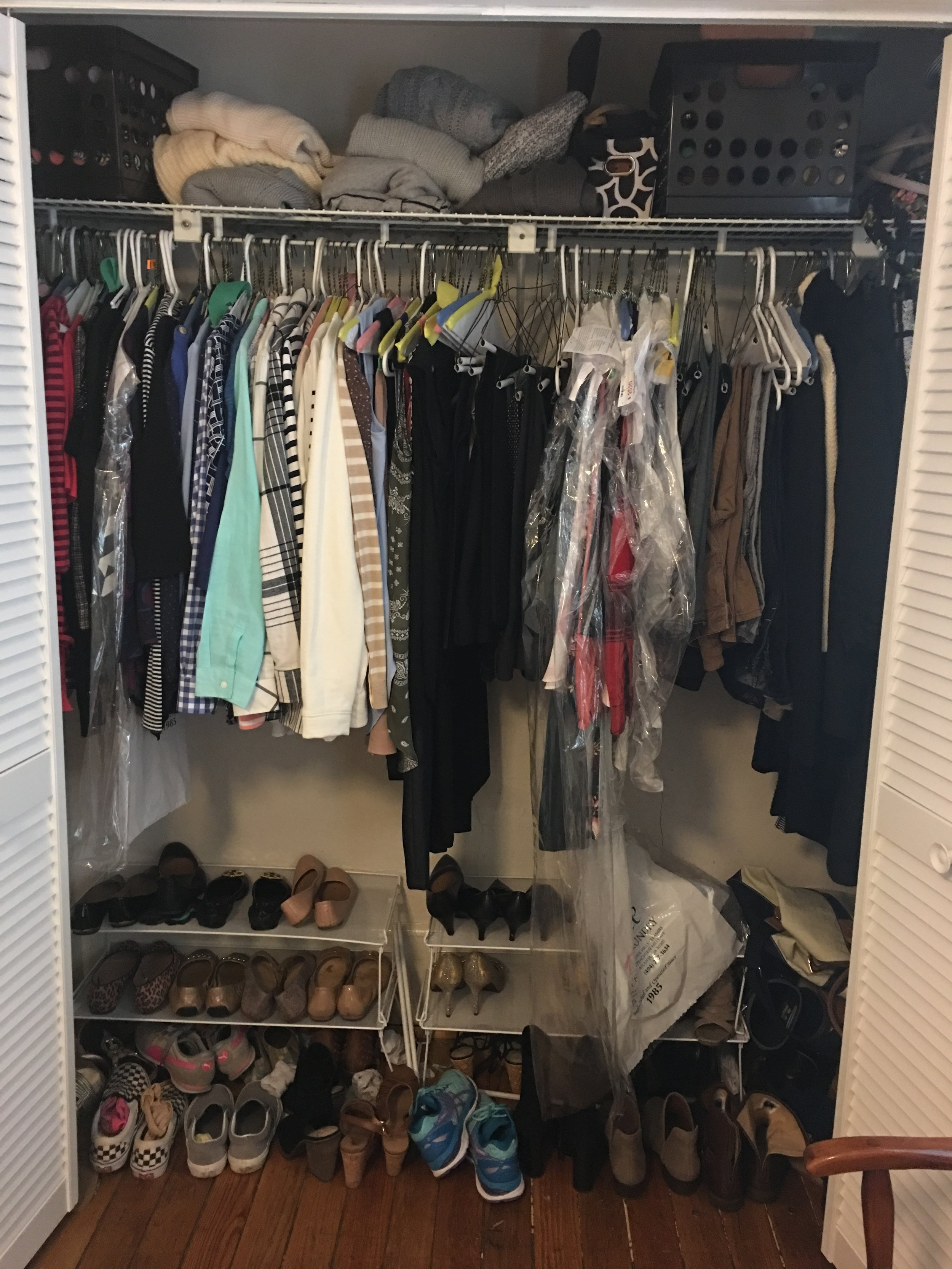 closet before organization