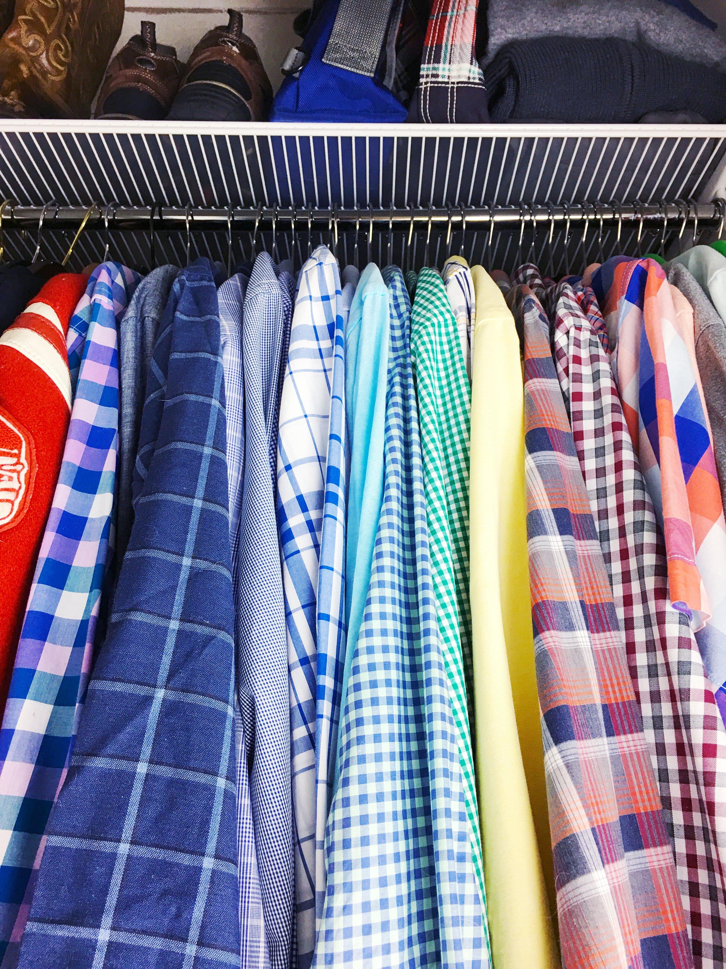 'his' master closet organization