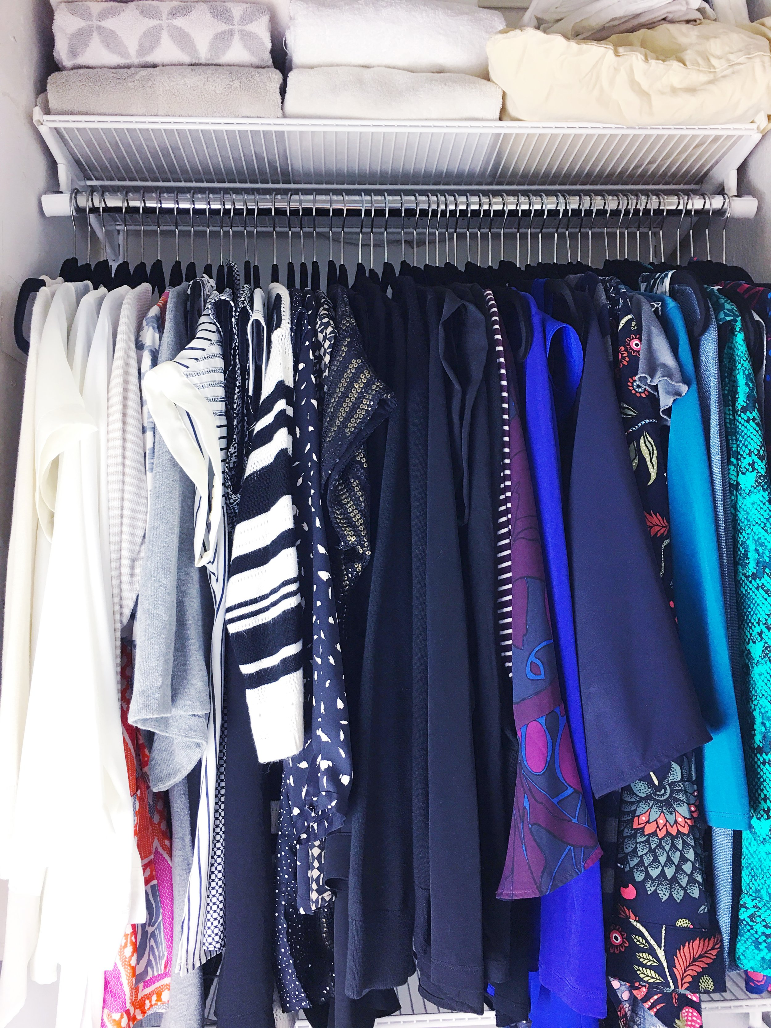 after 'hers' master closet organization