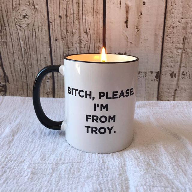 I got this great mug from @likeacancer as a gift, but I don't really drink coffee anymore. So I poured it into a perfect soy candle! What can I pour for you? #soycandles #troyny #ravensnestcandles #ipoursoyoudonthaveto #handpouredcandles #smellsamazing