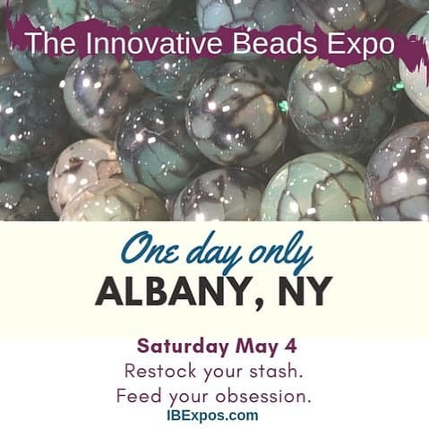 Find me here Saturday and get your kits and baubles! #beading #beadingkits #beadshow #innovativebeadsexpo #beadstash #feedyourobsession