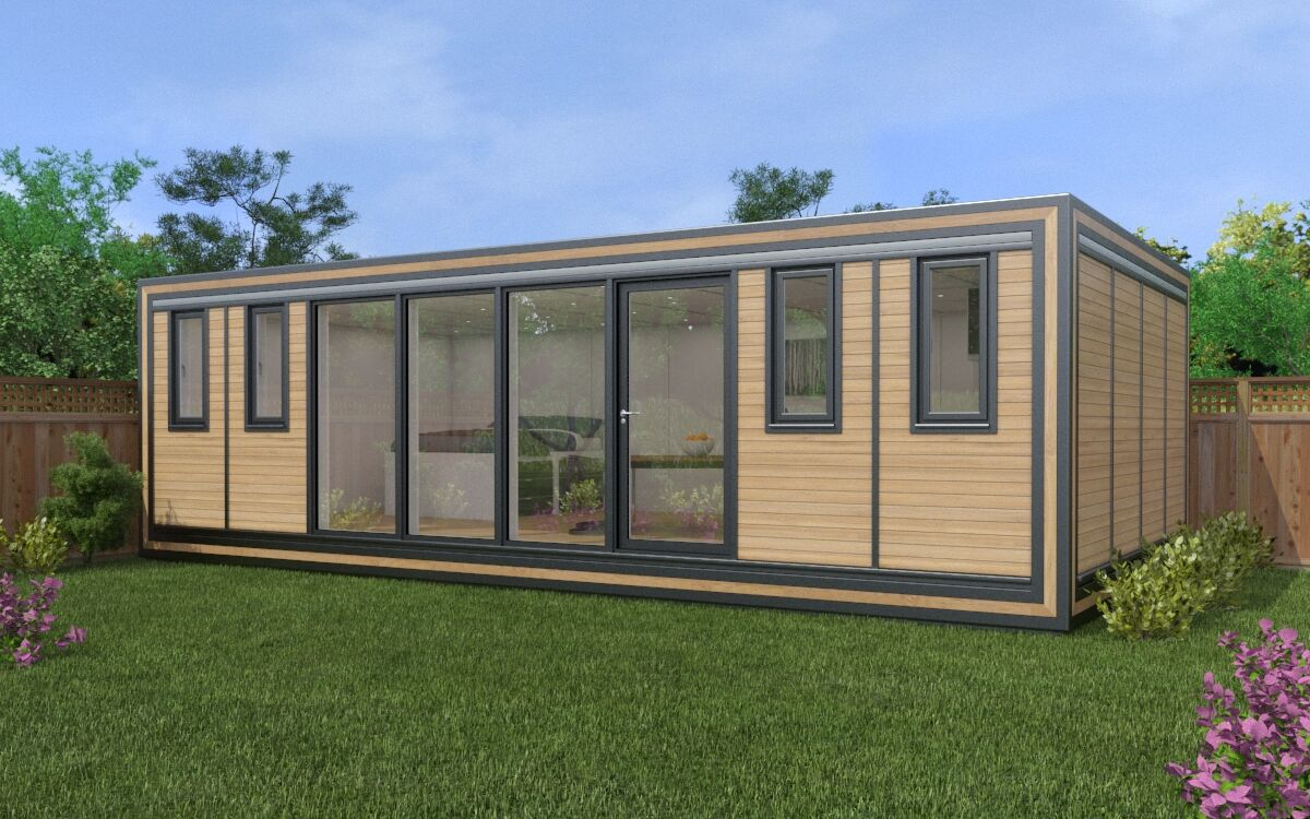 The Zedbox 840 is the ideal garden accommodation or workspace.