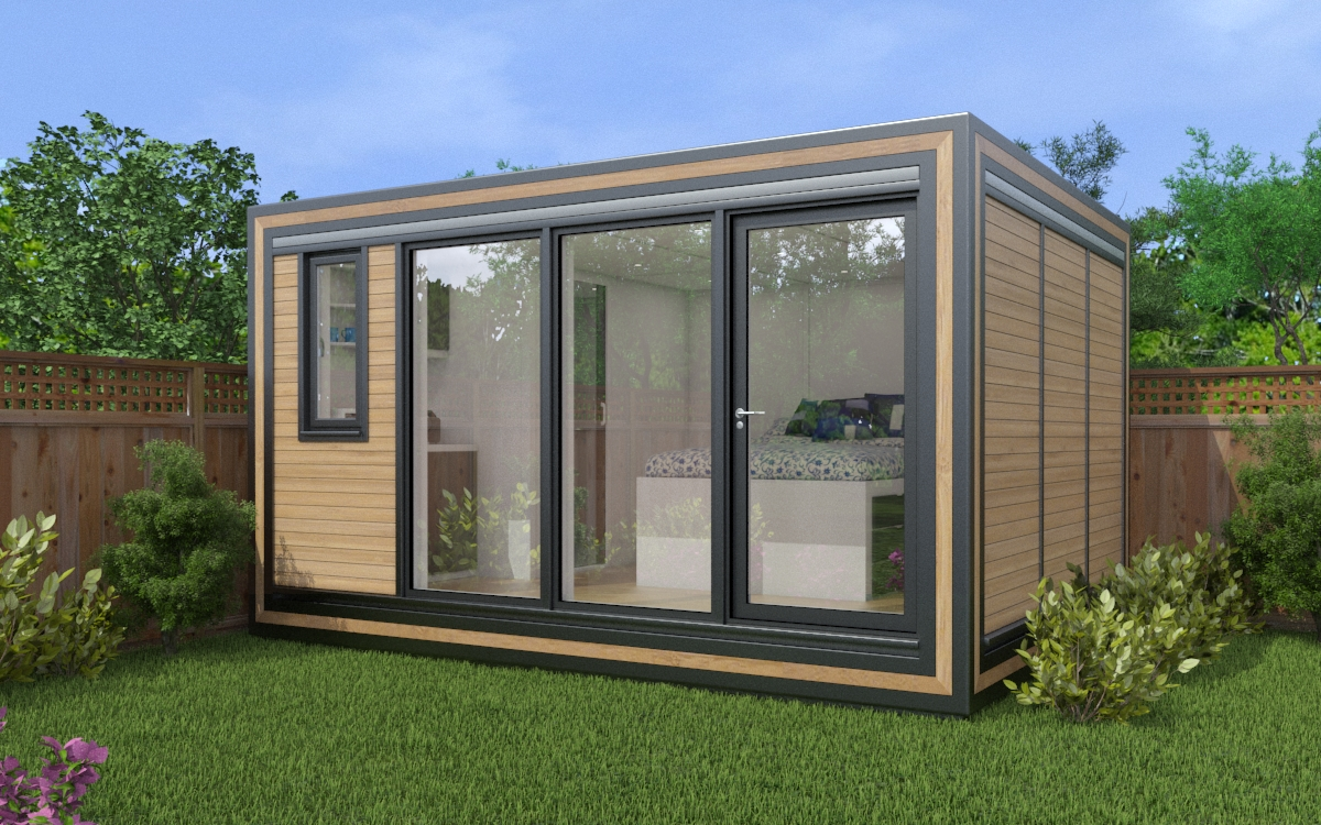Explore the Zedbox 430 small garden house. Self-contained garden annexes from just £26,000