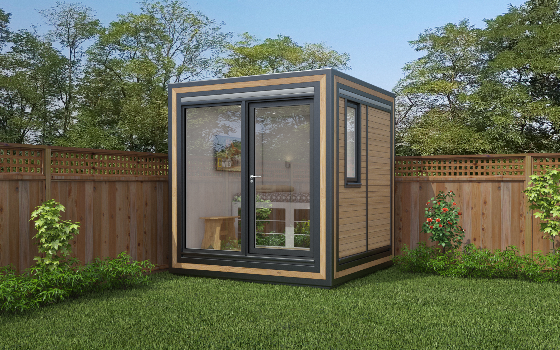 ZEDBOX 220  (2 x 2)  Internal Size: 2117 x 2117  External Size: 2587 x 2587  Bed Options: Single  Kitchen Options: N/A  Wet Room Options: N/A  Portico: No  Price:  £14,000    Optional Extras    Request Zedbox Catalogue