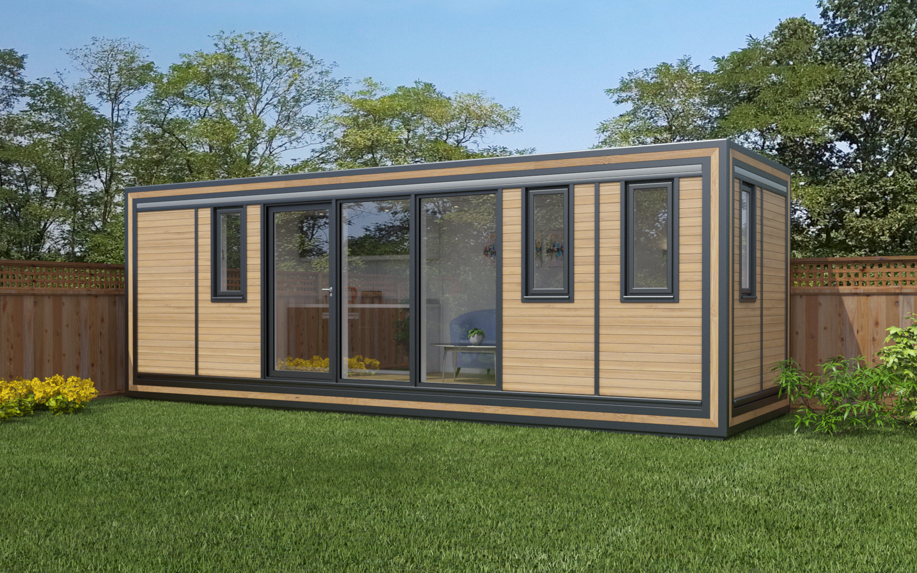 ZEDBOX 720  (7 x 2)  Internal Size: 7472 x 2117  External Size: 7942 x 2587  Bed Options: Single or Double  Kitchen Options: Micro Kitchen or Kitchen  Wet Room Options: Yes  Portico: No  Price:  £32,000    Optional Extras    Request Zedbox Catalogue