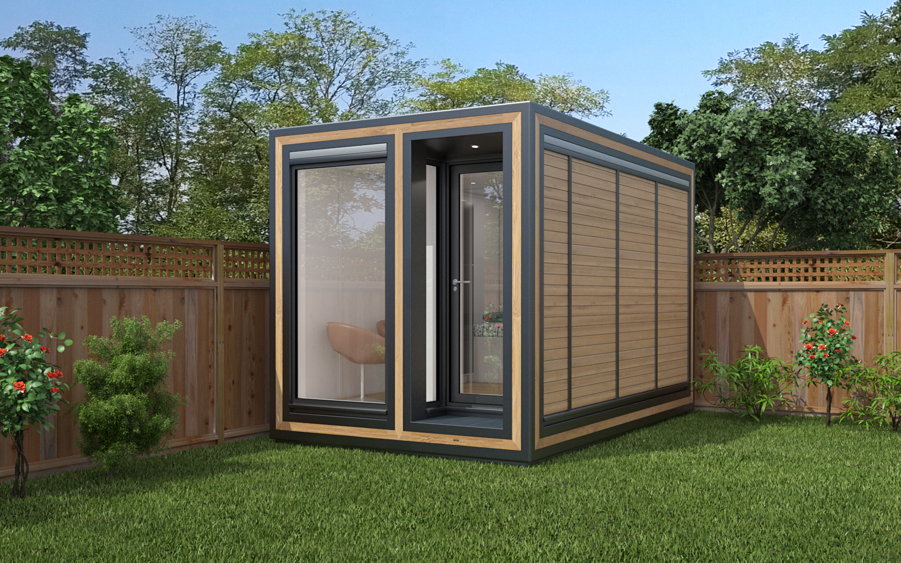 ZEDBOX 235  (2 x 3.5)  Internal Size: 2117x 3746  External Size: 2587 x 4216  Bed Options: Yes (Single)  Kitchen Options: N/A  Wet Room Options: Yes  Portico: No  Price:  £18,000    Optional Extras    Request Zedbox Catalogue
