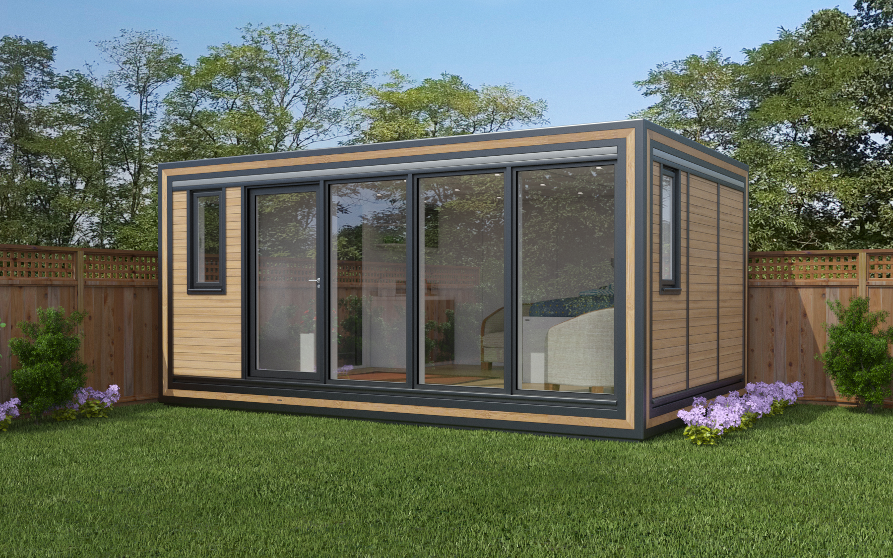 ZEDBOX 530  (5 x 3)  Internal Size: 5330 x 3188  External Size: 5800 x 3658  Bed Options: Single or Double  Kitchen Options: Micro or Premier  Wet Room Options: Yes  Portico: No  Price:  £25,000     Optional Extras    Request Zedbox Catalogue