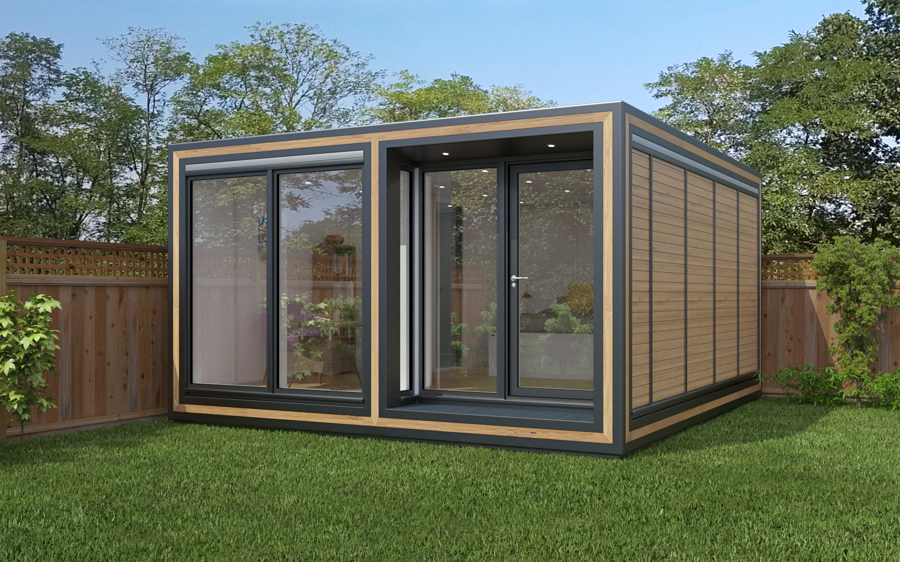 ZEDBOX 445  (4 x 4.5)  Internal Size: 4259 x 4817  External Size: 4279 x 5287  Bed Options: Single or Double  Kitchen Options: Micro or Premier  Wet Room Options: Yes  Portico: Yes  Price:  £36,000    Optional Extras    Request Zedbox Catalogue