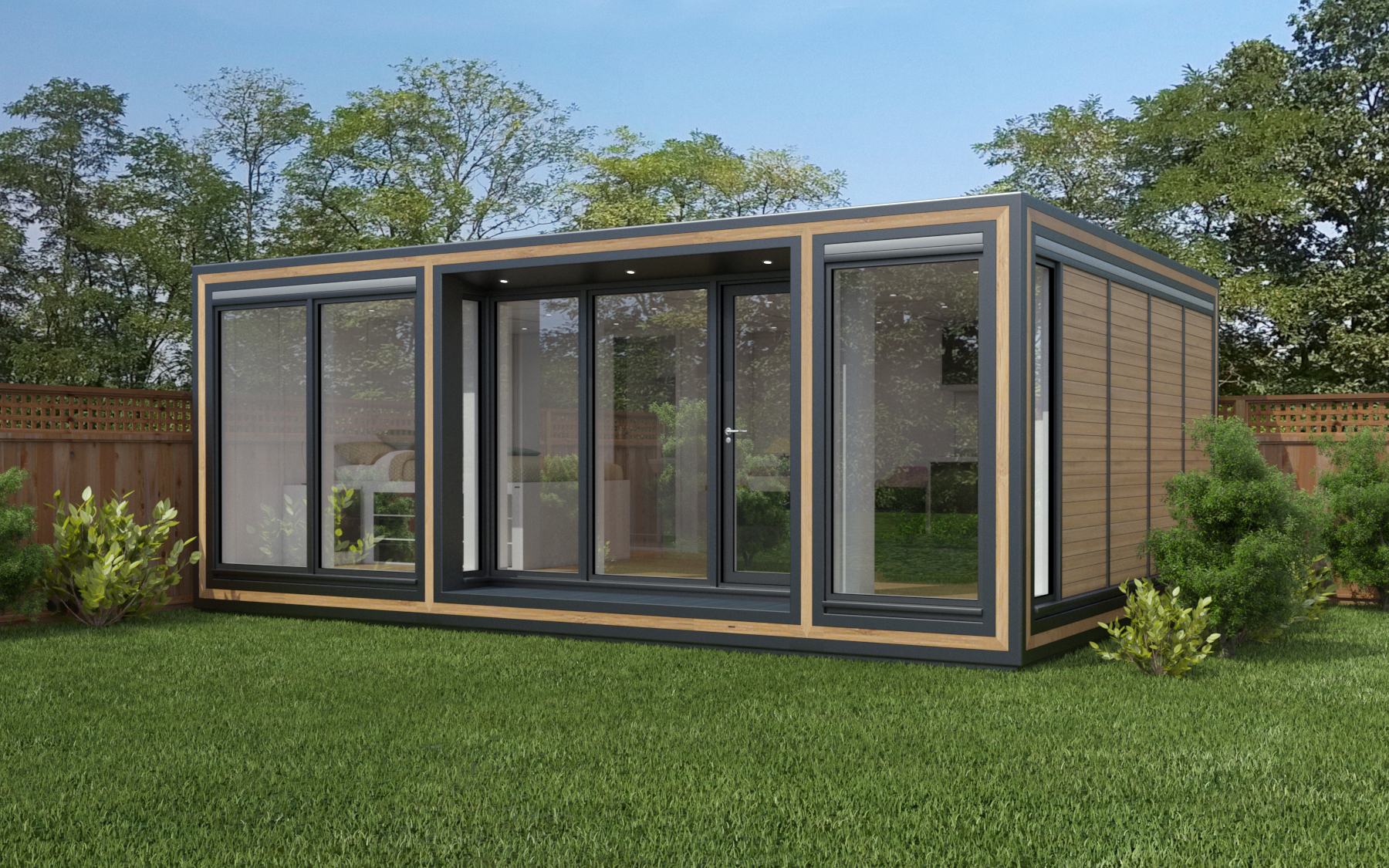 ZEDBOX 645  (6 x 4.5)  Internal Size: 6401 x 4817  External Size: 6871 x 5287  Bed Options: Single or Double  Kitchen Options: Micro Kitchen or Kitchen  Wet Room Options: Yes  Portico: Yes  Price:  £42,000    Optional Extras    Request Zedbox Catalogue
