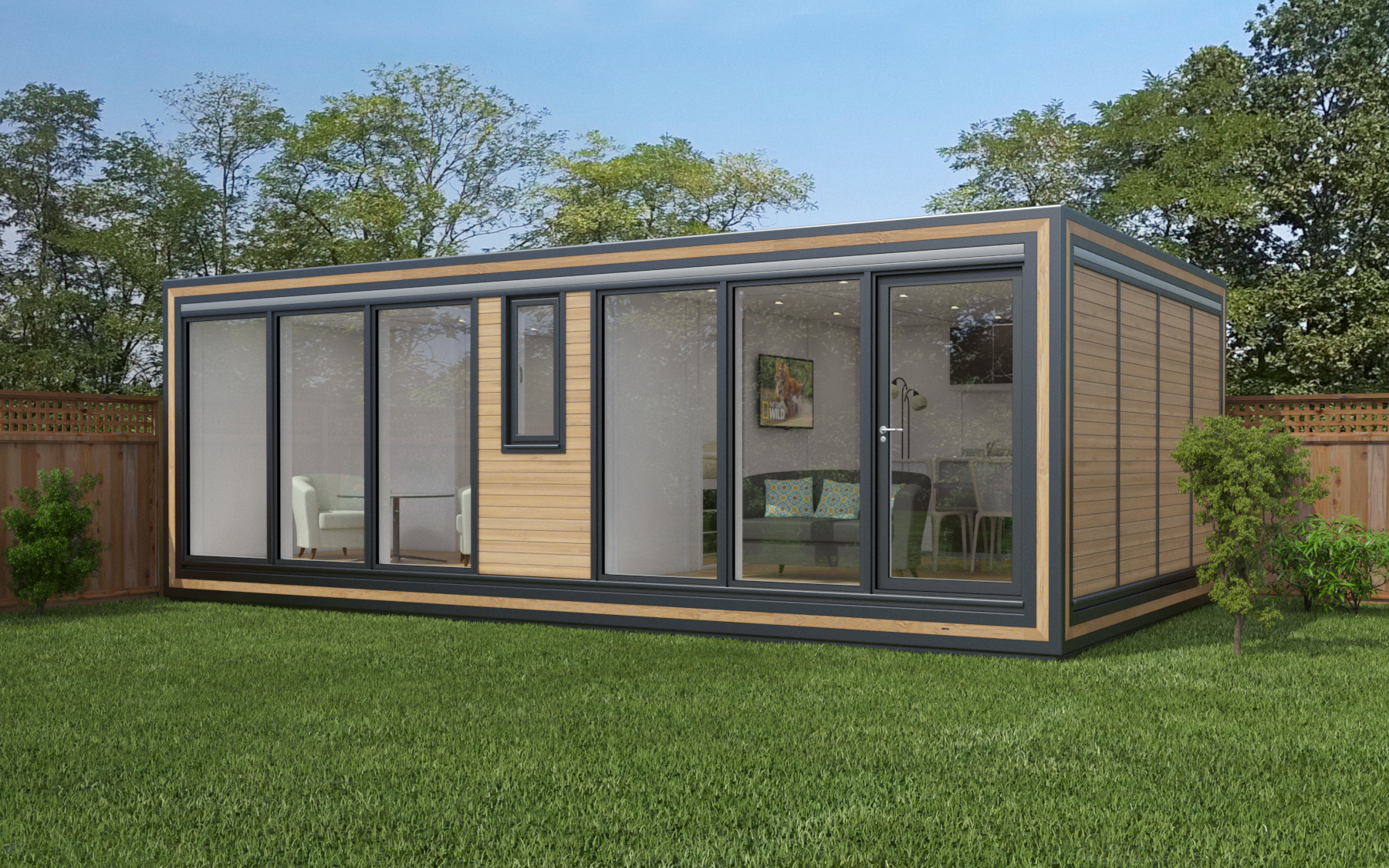 ZEDBOX 740  (7 x 4)  Internal Size: 7472 x 4259  External Size: 7942 x 4729  Bed Options: Single or Double or Two Doubles  Kitchen Options: Micro Kitchen or Kitchen  Wet Room Options: Yes  Portico: No  Price:  £43,000    Optional Extras    Request Zedbox Catalogue