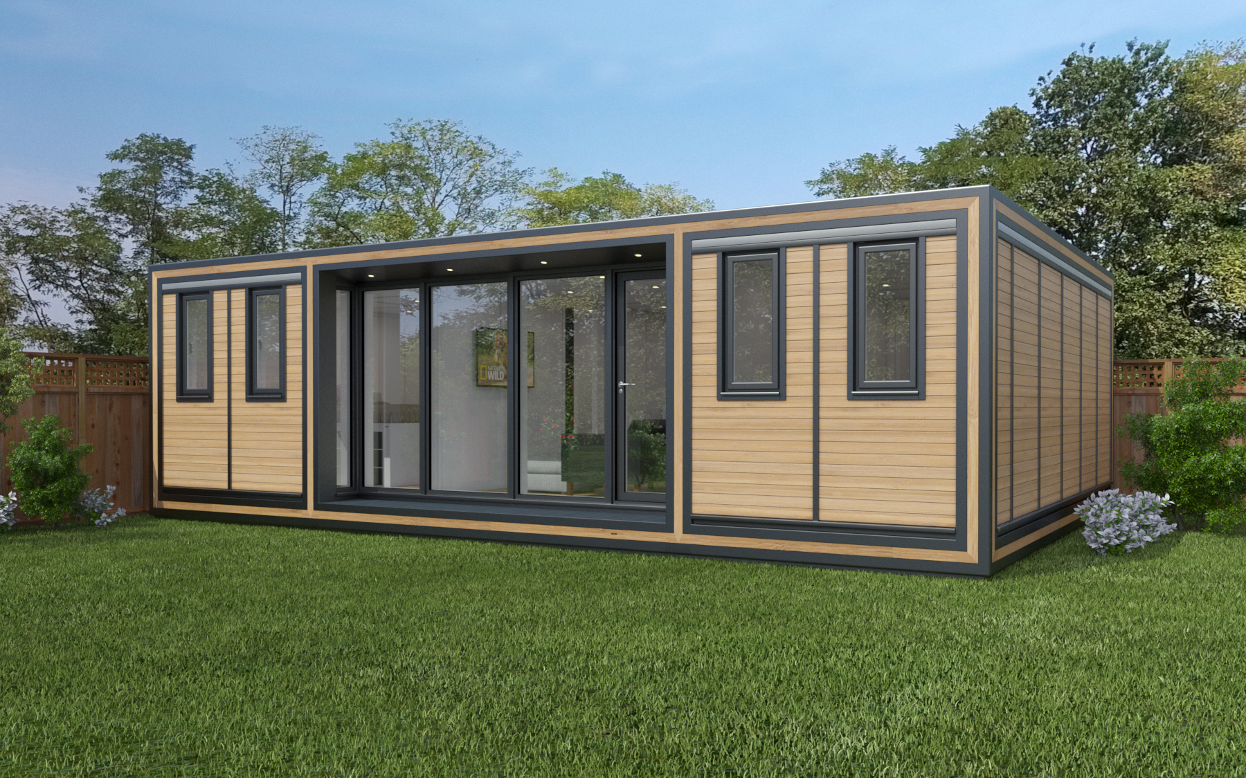 ZEDBOX 855  (8 x 5.5)  Internal Size: 8543 x 5888  External Size: 9013 x 6358  Bed Options: Single, Double or two doubles.  Kitchen Options: Micro Kitchen or Kitchen  Wet Room Options: Yes  Portico: Yes  Price:  £64,000    Optional Extras    Request Zedbox Catalogue