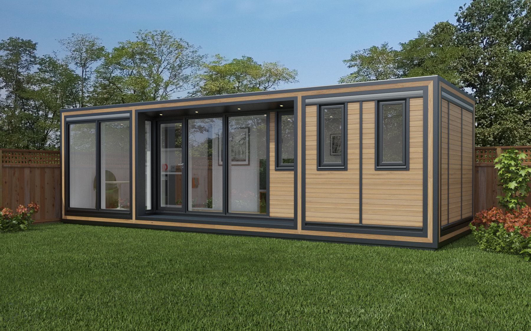ZEDBOX 825  (8 x 2.5)  Internal Size: 8543 x 2720  External Size: 9013 x 3190  Bed Options: Single or Double  Kitchen Options: Micro Kitchen or Kitchen  Wet Room Options: Yes  Portico: Yes  Price:  £36,000    Optional Extras    Request Zedbox Catalogue