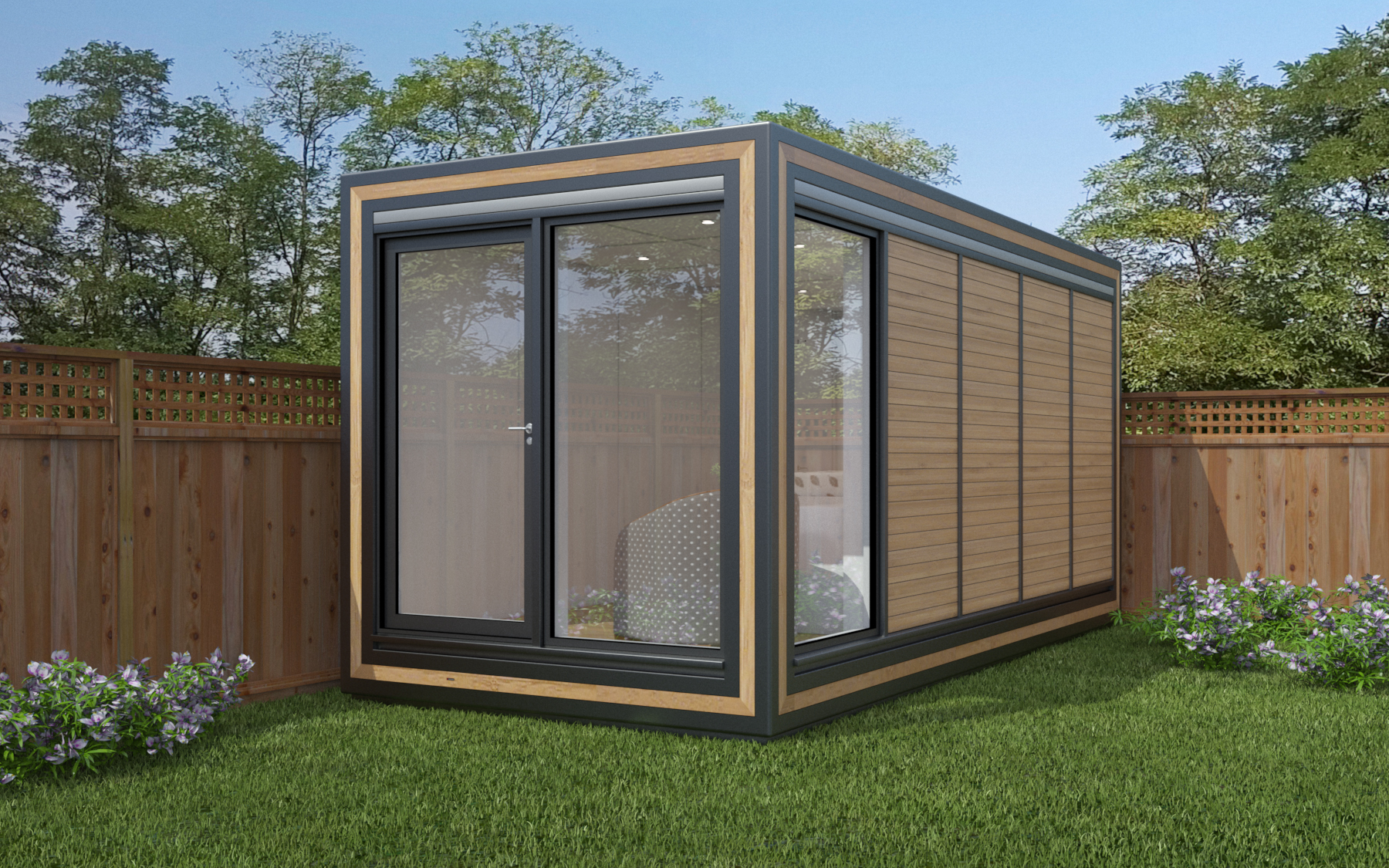 ZEDBOX 250  (2 x 5)  Internal Size: 2117x 5330  External Size: 2587 x 5800  Bed Options: Single or Double  Kitchen Options: Micro Kitchen  Wet Room Options: Yes  Portico: No  Price:  £24,000    Optional Extras    Request Zedbox Catalogue