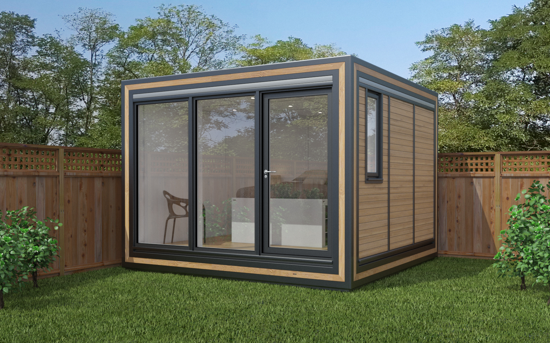 ZEDBOX 330  (3 x 3)  Internal Size: 2188 x 3188  External Size: 3658 x 3658  Bed Options: Single  Kitchen Options: Micro Kitchen  Wet Room Options: Yes  Portico: No  Price:  £21,000    Optional Extras    Request Zedbox Catalogue
