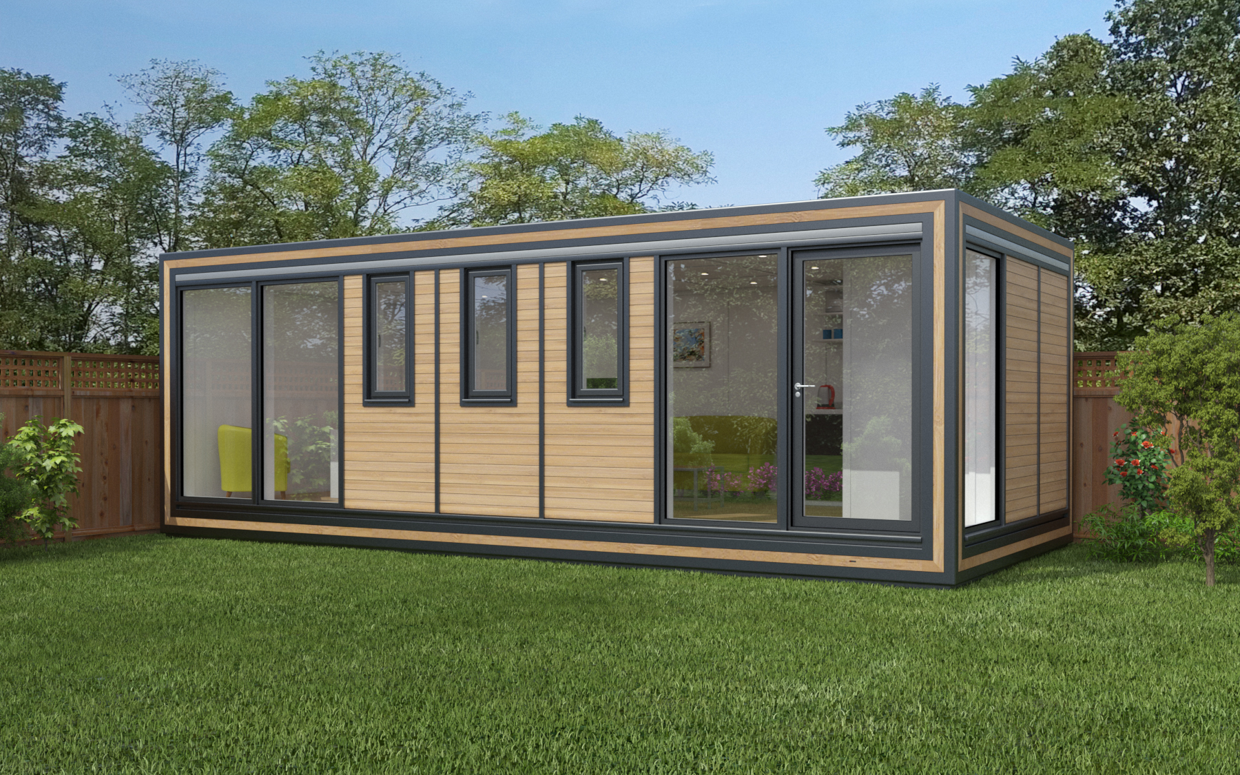 ZEDBOX 730  (7 x 3)  Internal Size: 7472 x 3188  External Size: 7942 x 3658  Bed Options: Single or Double  Kitchen Options: Micro Kitchen or Kitchen  Wet Room Options: Yes  Portico: No  Price:  £34,000    Optional Extras    Request Zedbox Catalogue