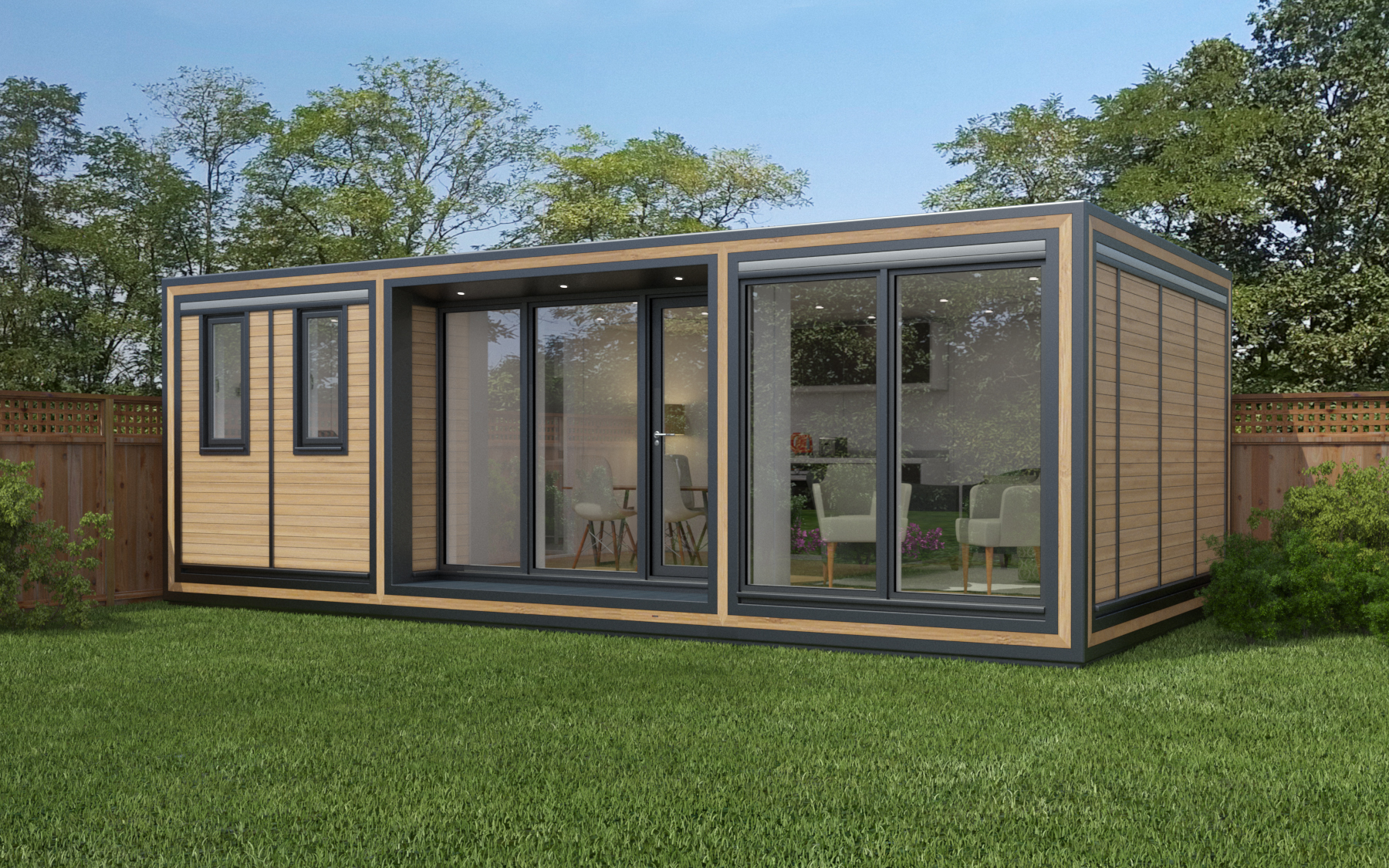 ZEDBOX 735  (7 x 3.5)  Internal Size: 7472 x 3791  External Size: 7942 x 4261  Bed Options: Single or Double or Two Doubles.  Kitchen Options: Micro Kitchen or Kitchen  Wet Room Options: Yes  Portico: Yes  Price:  £37,000    Optional Extras    Request Zedbox Catalogue