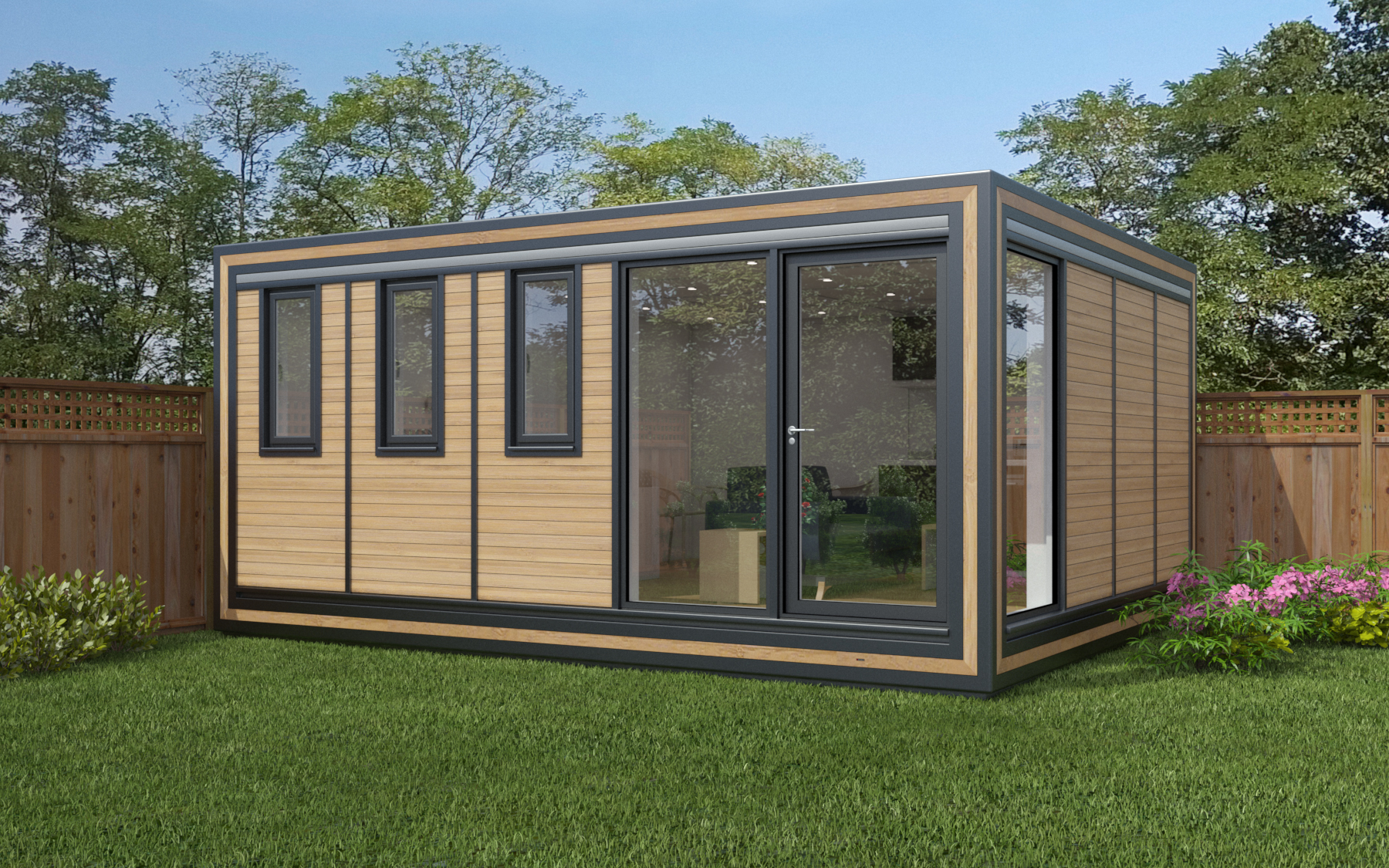 ZEDBOX 540  (5 x 4)  Internal Size: 5330 x 4259  External Size: 5800 x 4279  Bed Options: Single or Double  Kitchen Options: Micro Kitchen or Kitchen  Wet Room Options: Yes  Portico: No  Price:  £34,000    Optional Extras    Request Zedbox Catalogue