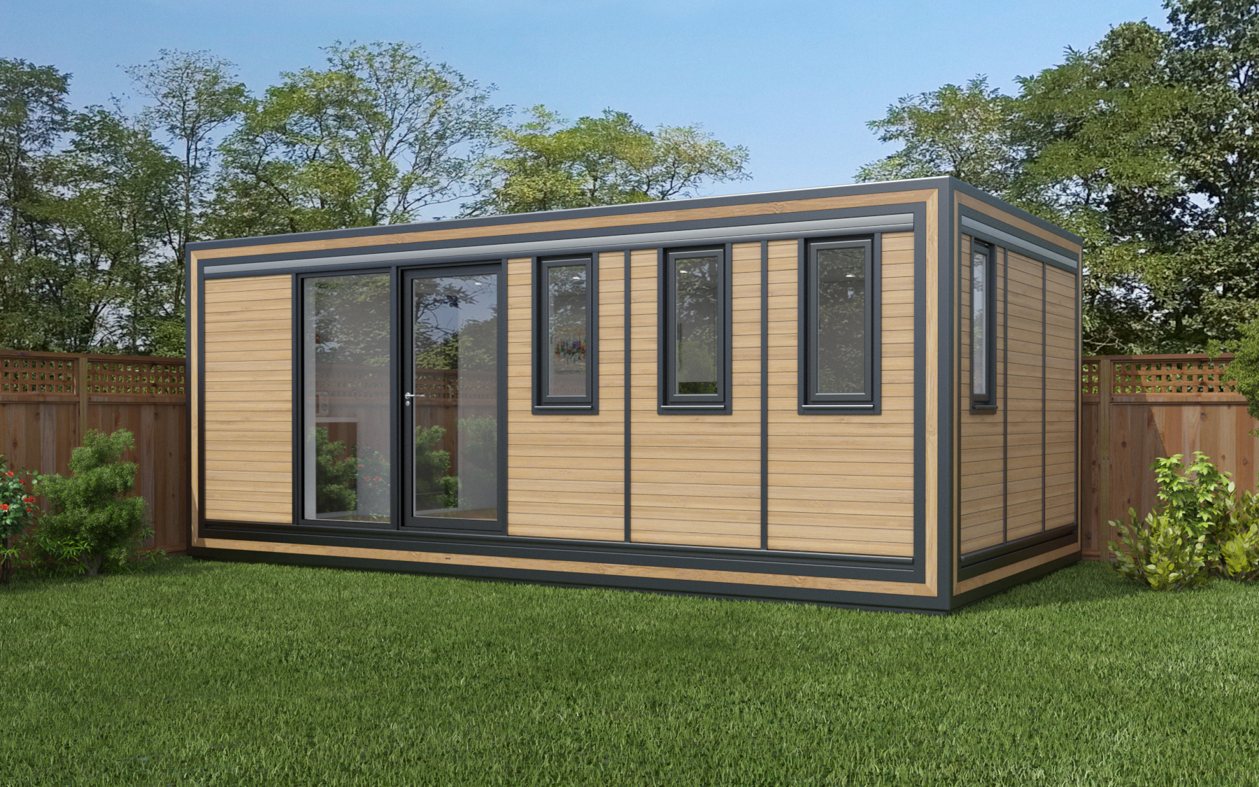 ZEDBOX 630  (6 x 3)  Internal Size: 6401 x 3188  External Size: 6871 x 3658  Bed Options: Single or Double  Kitchen Options: Micro or Premier  Wet Room Options: Yes  Portico: No  Price:  £29,000    Optional Extras    Request Zedbox Catalogue