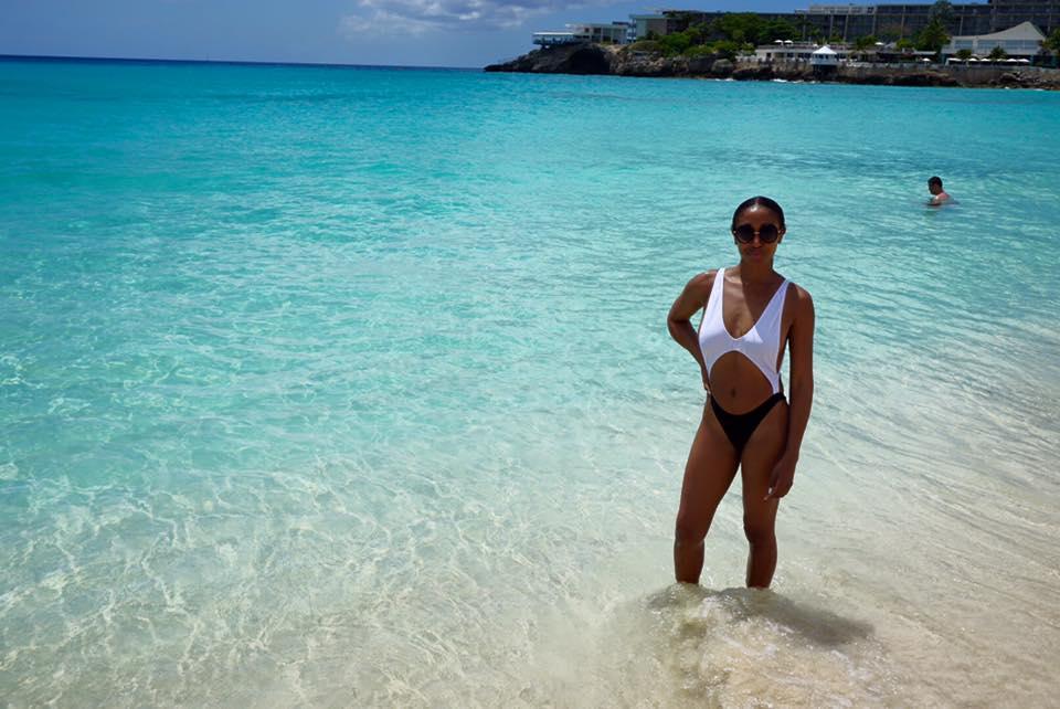 Melanie enjoying the beach!