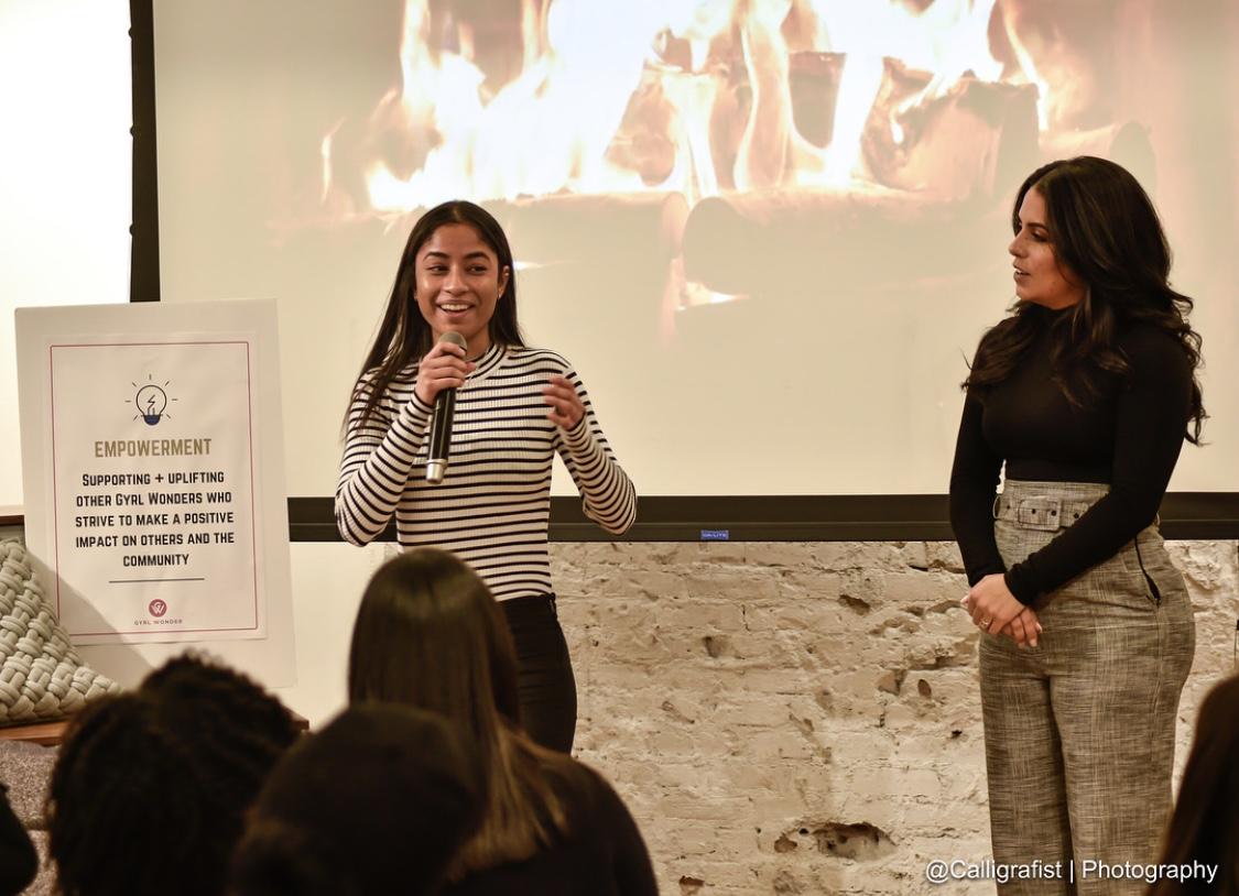 Angelica Alam with her extraordinary mentee, Solangy Juarez