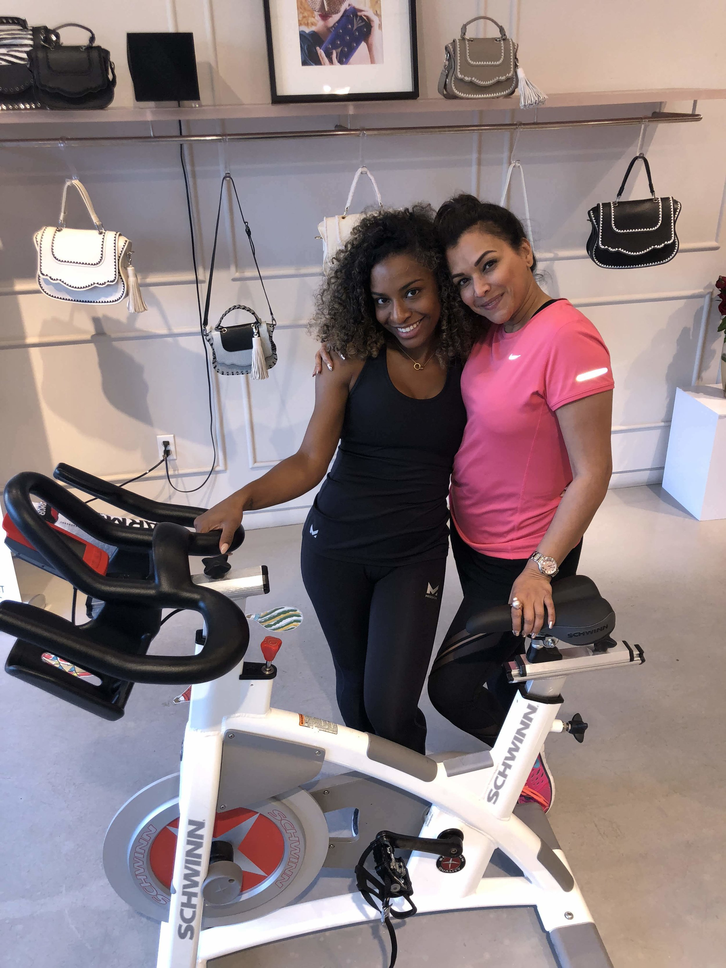 Briana Owens, Founder of Spiked Spin with Deborah Sawaf, Founder of Thale Blanc