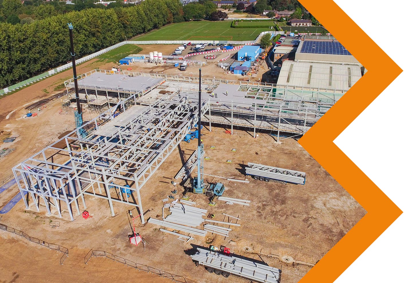 FLEMING PARK, EASTLEIGH  - Construction of new state-of-the-art leisure facilityClient: InterserveTonnage: 700 tonnesSector: LeisureProject Value: £1,020,000