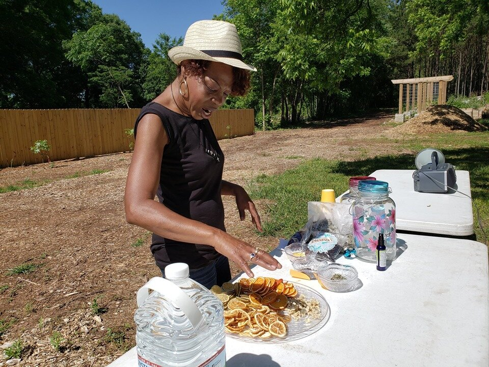 Community Liaison and Herb Steward:  Celeste Lomax:  Clomax@treesatlanta.org ,  Trees Atlanta