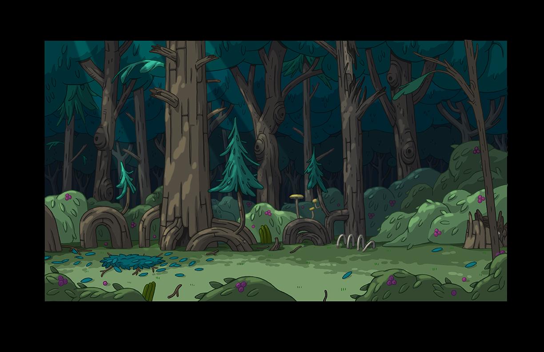 Adventure Time Season 8   Background Paint  copyright Cartoon Network Studios