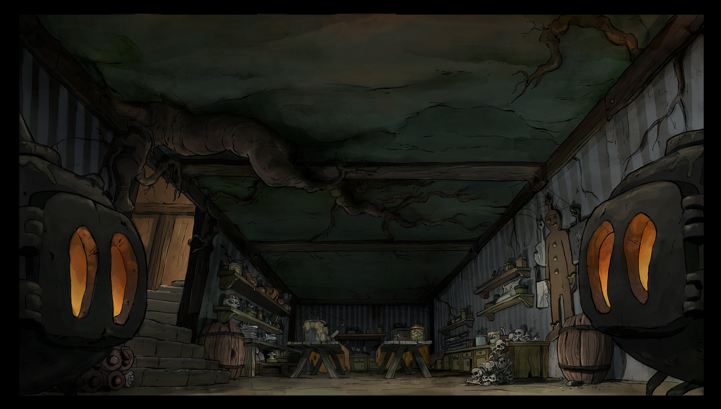 Candy house basement
