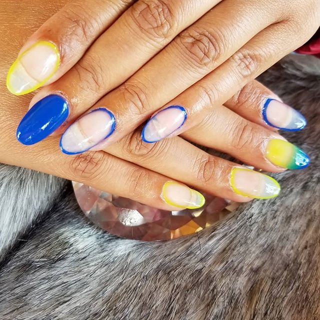 DOPE-ISH ONLY...Nails by the one & only @jerzbuttafly 💅🏾 .  #NailsByJerz #MiaHammett #SanfordNC
