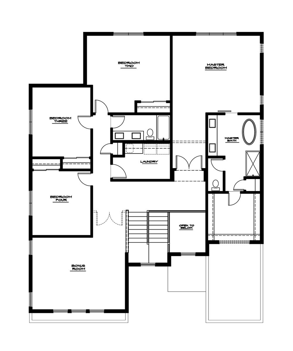 Dogwood Plan—Upper Floor