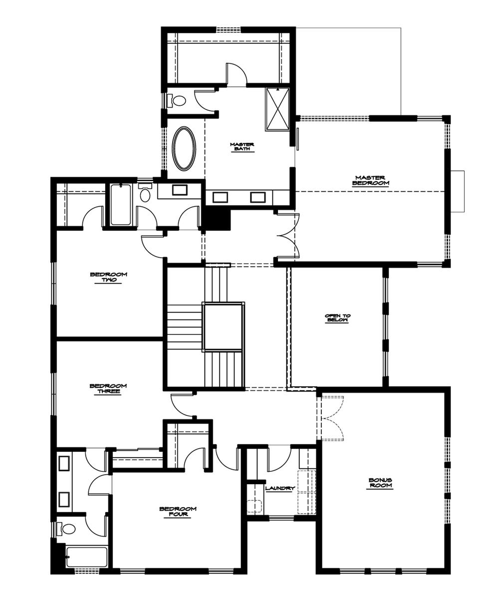 Hawthorne Plan—Upper Floor