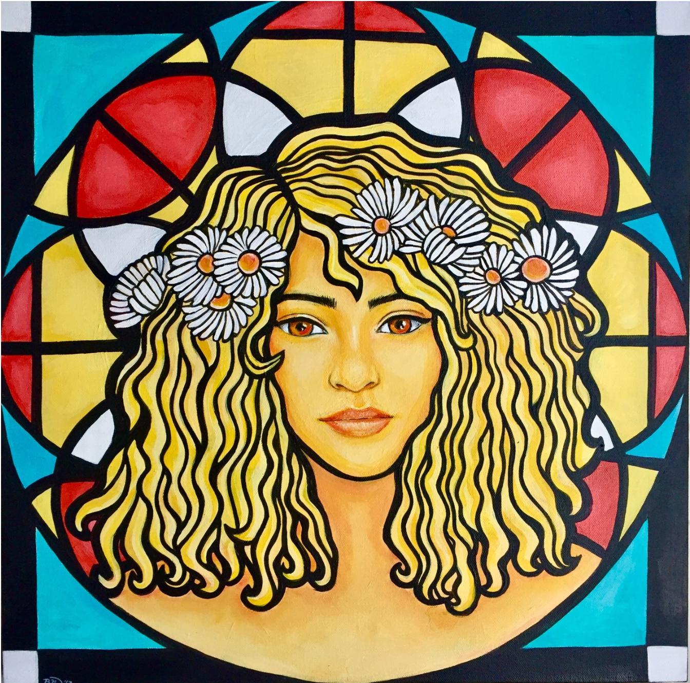 Morning Light   2017. Acrylic on canvas. 20 x 20.  $400 -  SOLD