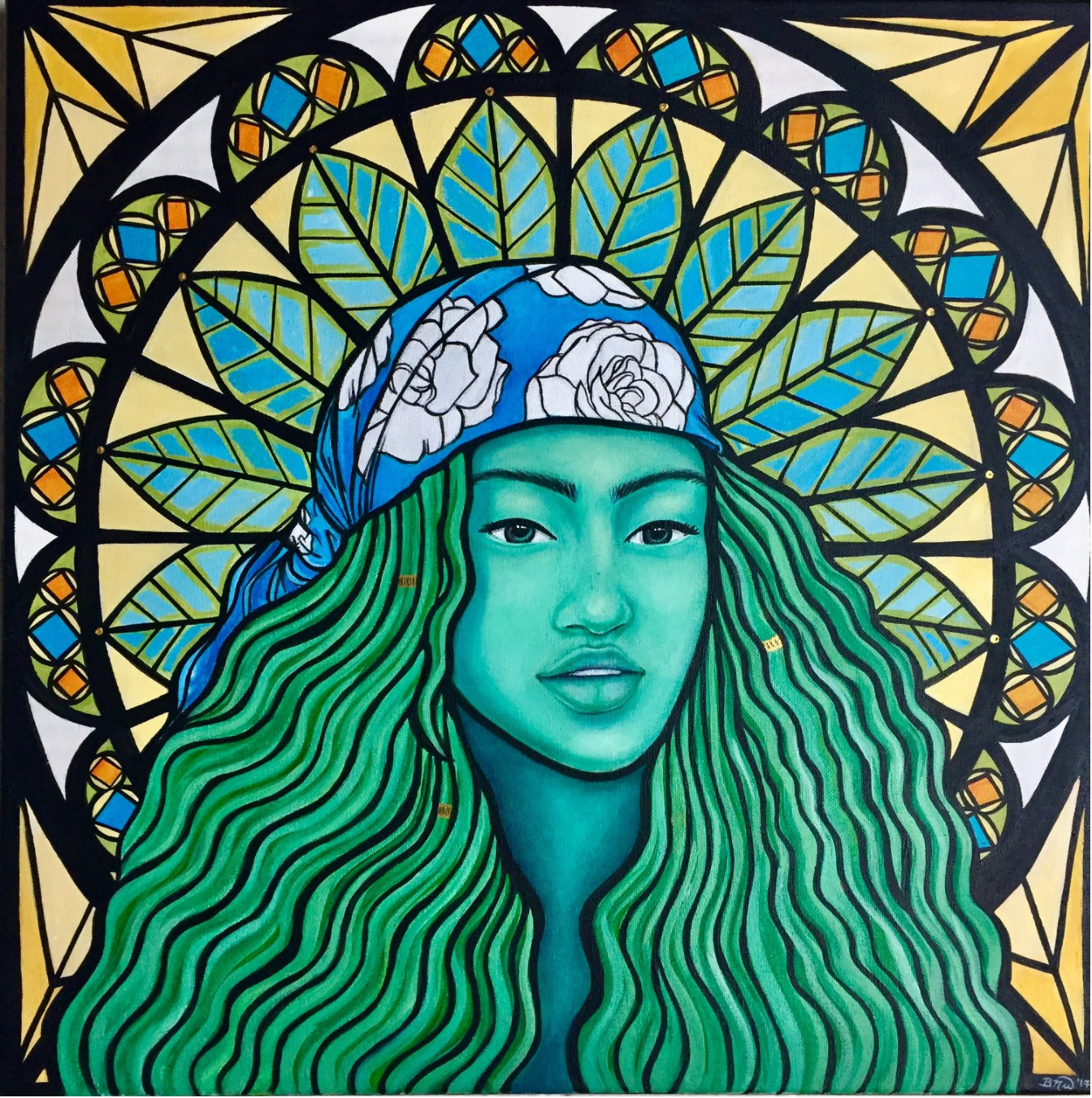 Serenity   2017. Acrylic on canvas. 20 x 20.  $400 -  SOLD