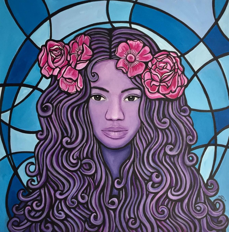 Primrose   2017. Acrylic on canvas. 20 x 20.  $400 -  SOLD