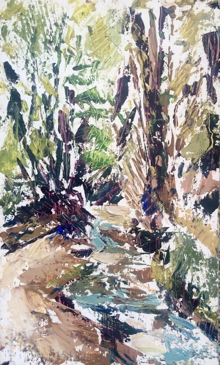 Landscape II   2015. Oil on gessoed cardboard.