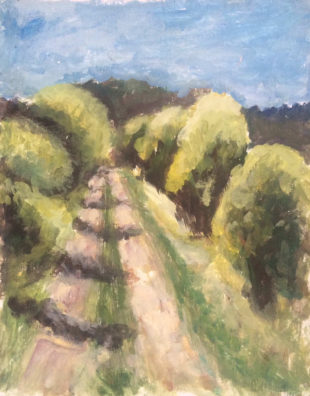 Landscape of Trees   2015. Oil on gessoed cardboard.