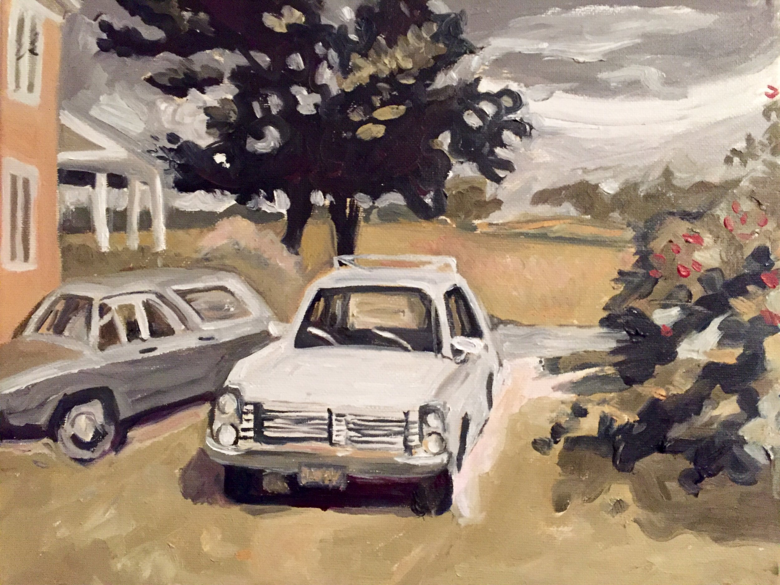 Copy of Fairfield Porter's Master Work in 3 Colors   2016. Oil on Canvas