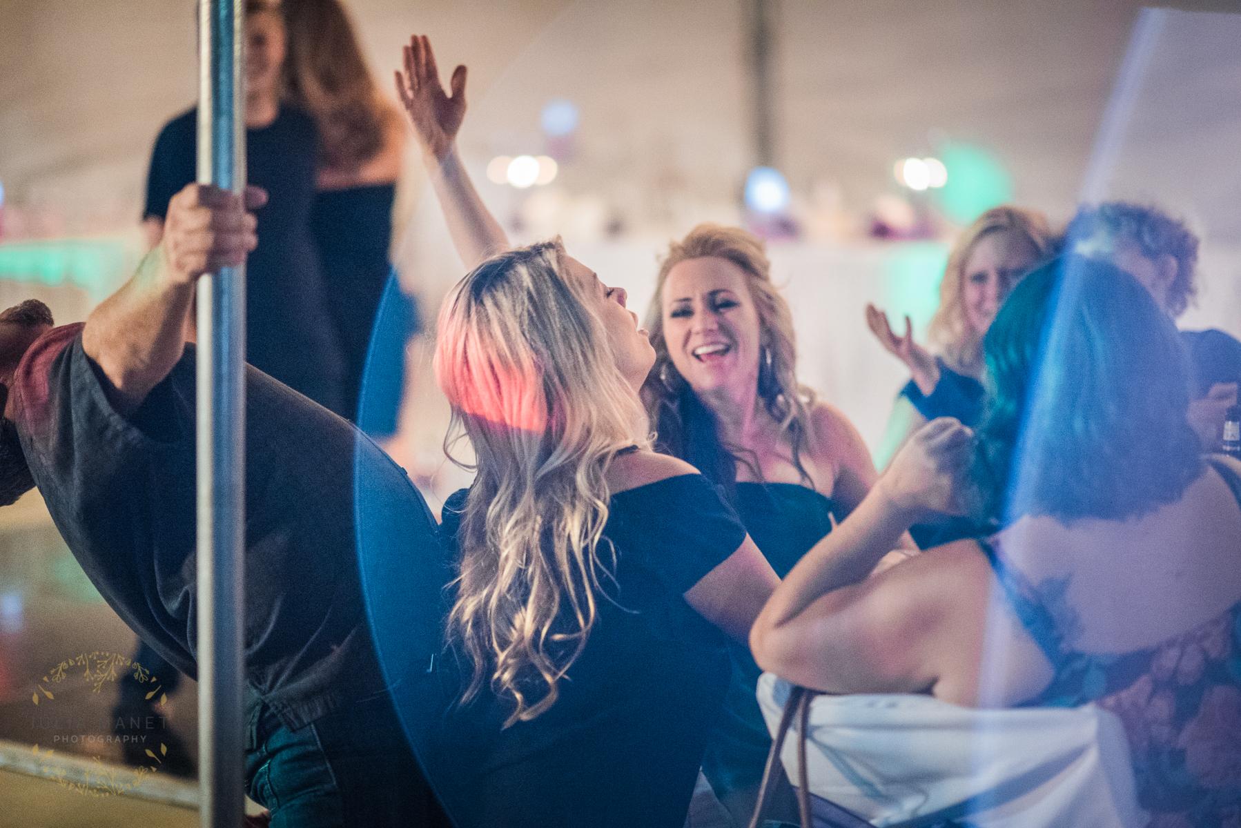 Bohemian Rhapsody plays during wedding reception at Julieanna's Patio Cafe in Yuma