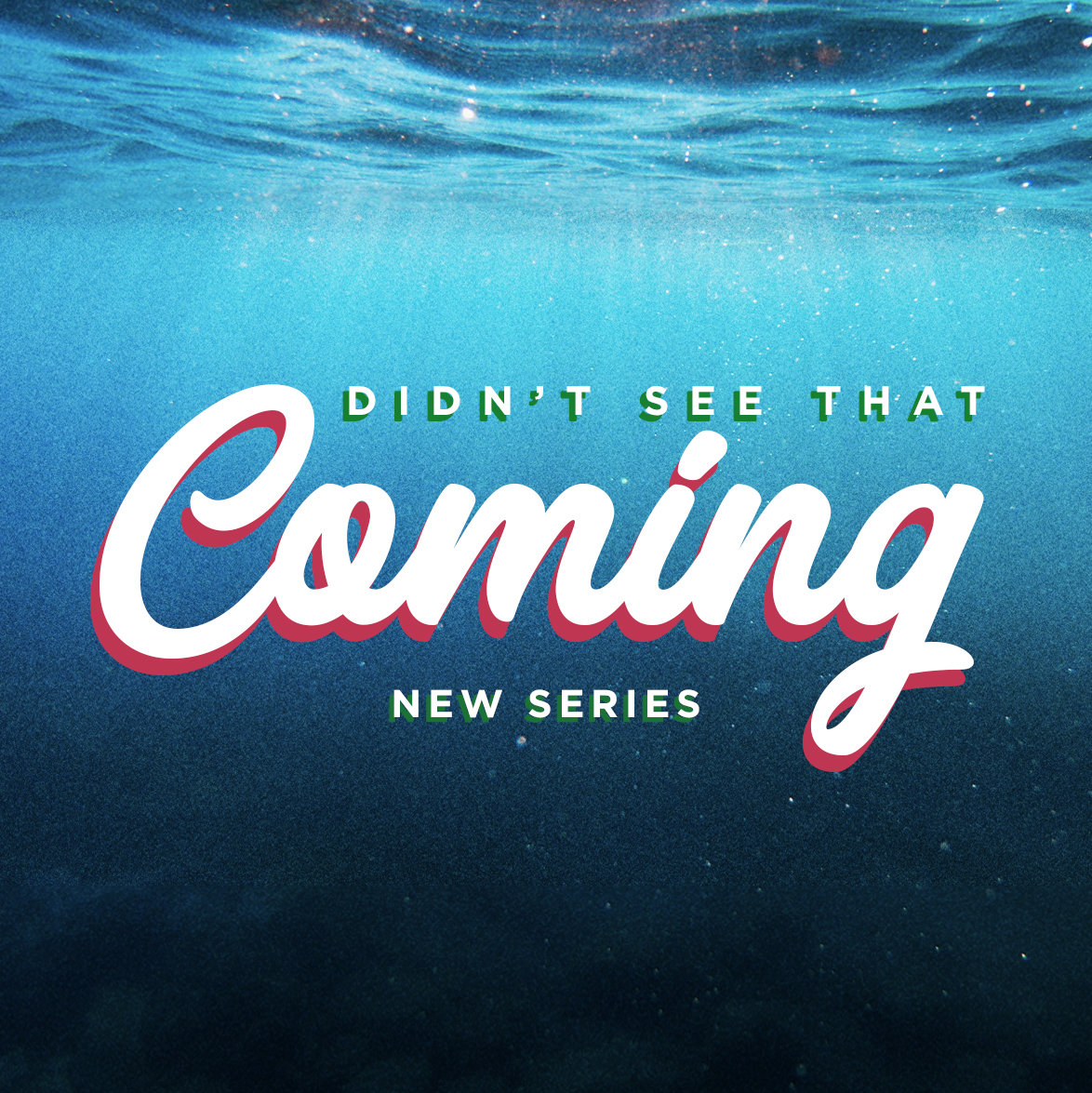 Group Questions - We're in week 4 of Didn't See That Coming today! You can find our questions here.