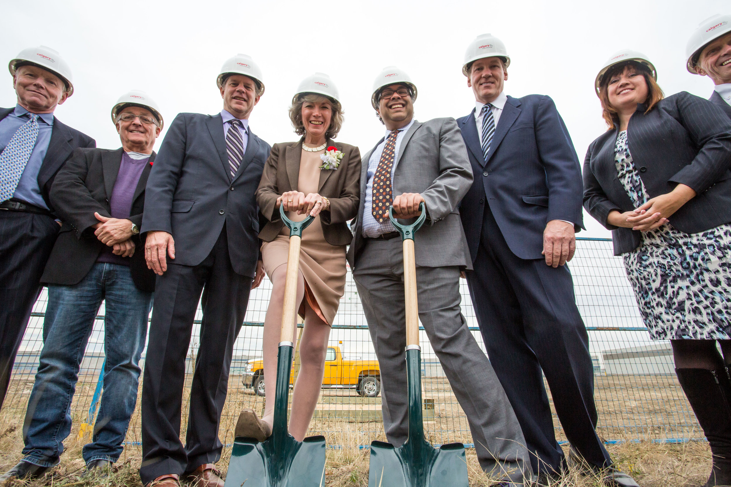 Breaking ground on the Calgary Film Centre, October 31, 2014