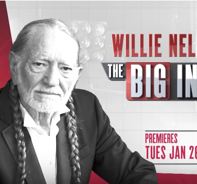 Willie Nelson with Dan Rather