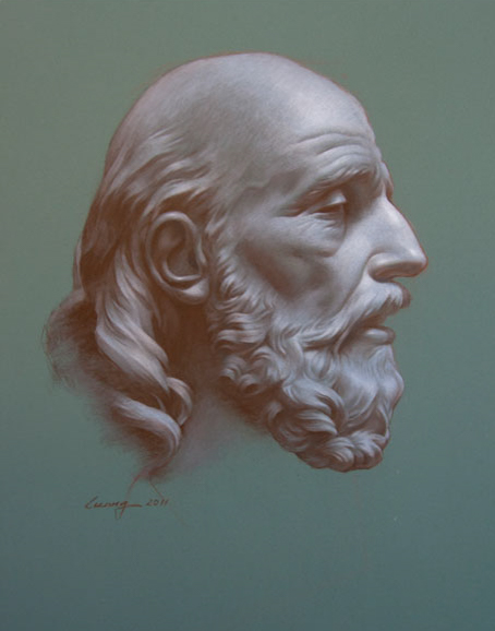 Study: Bust of Belisarius by Jean-Baptiste Stouf
