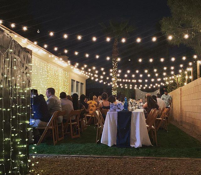 Our view of this gorgeous backyard wedding. Wishing Ria & Nathan a beautiful life together. • • • • • #thephotobusvegas #cityoflights #sincity #lasvegas #vegas #vwphotobooth #lasvegaswedding #mobilephotobooth #theoriginalvwphotobooth #photobooth #lasvegasphotobooth #photobus #photoboothbus #kombi #powercouple #smallbusinessowner #yourfavoritephotobus  #thankful #love #weddings #wedding #happiness #powercouple #lasvegasvendors #instagram #vendor