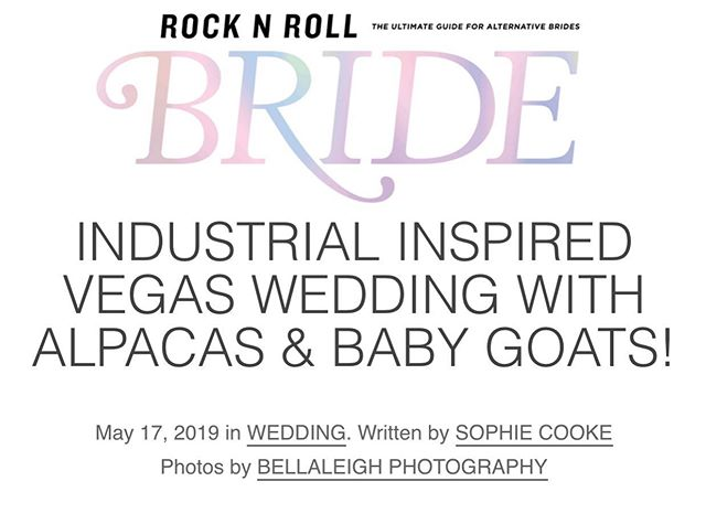 So we've know about this feature for a few weeks now but it's so awesome to see it live. Thank you @rocknrollbride @rocknrollbride for such an awesome article. Please click the link on my page above to view this awesome feature.  Photo Booth: @thephotobusvegas  Dress: @greypearlbride @christopherpaunil  Wedding planner: @starryeyedeventslv  Venue: @doylelasvegas  Photographer: @bellaleighphotography  Floral: @cityblossomslv  Cake: @weelittlecakes Catering: @abuelastacos Spirits: @thecraftlv  Rentals: @bloomingbellesrentals @dogwoodrentals @rsvppartyrentals  Churros: @brunostacobar  Music: @utbeats Videographer: @woolandlightfilms  Paper: @lunademiel.paper  Makeup & Hair: @pazmakeupartistry  Poof Veil: @natalialermagomez  Hair Color: @kateloveshair  Officiant: @thenightin_blog
