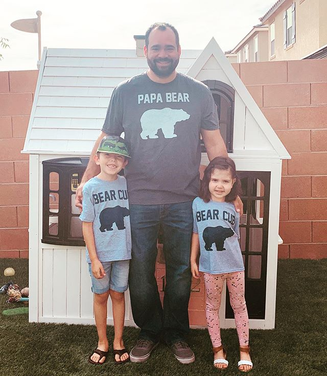 """Family isn't defined only by last names or by blood; it's defined by commitment and by love."" DW  Yes, we are that family with the matching t's. 🤣🤣🤣 Everyday I'm thankful for this man that has never put these babies of mine to the side but has loved them unconditionally. He is an amazing role model, amazing father and husband. You are the piece that makes our little family whole. I love you unconditionally now and ALWAYS!  Happy Father's Day to all the amazing dads out there!!! #matchingtshirts"