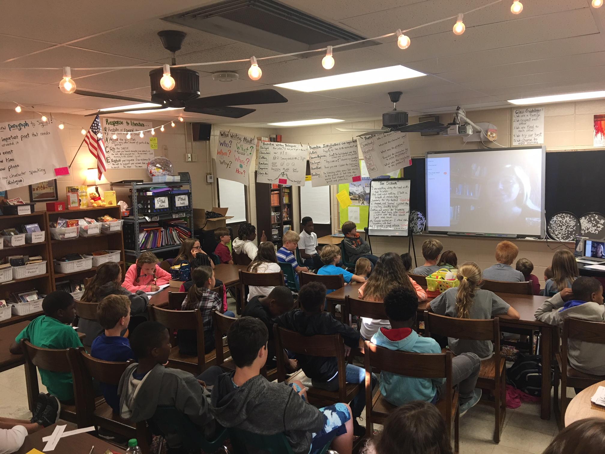 Such a fun Skype visit with Puckett Elementary School in Puckett, MS!