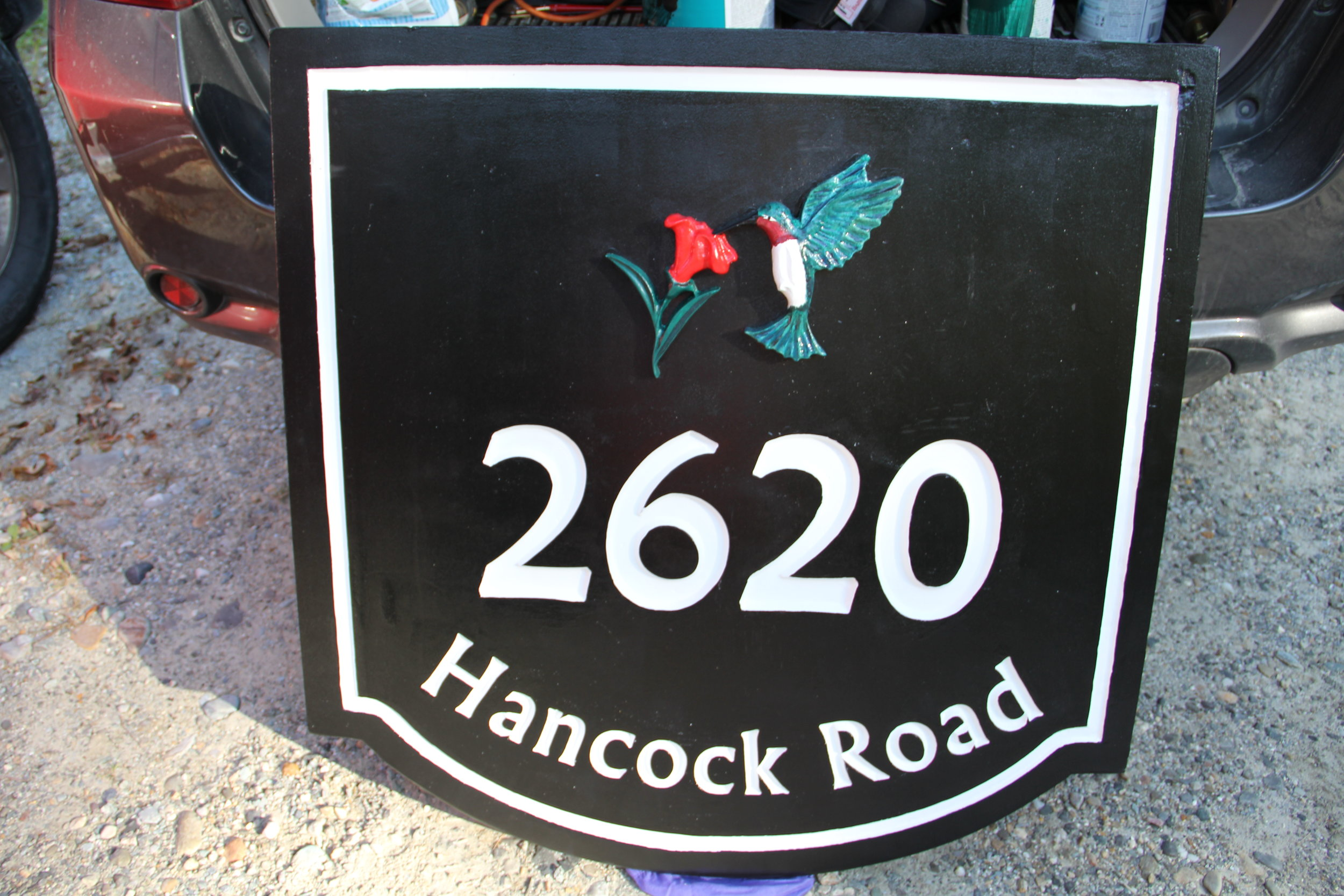 Address Sign Humming Bird