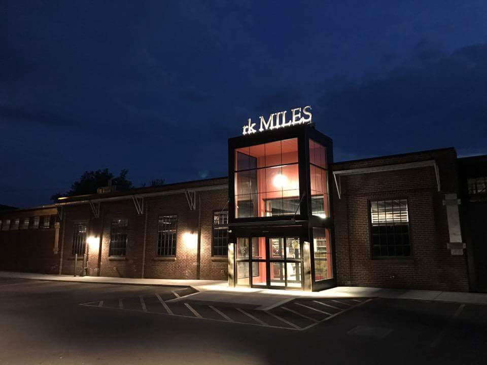 rk MILES Stainless Steel letters light up at night